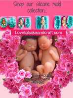 Baby molds, 5 Baby moulds, Doll molds, Fimo, Sculpey Set of 5, Baby molds, Free worldwide shipping